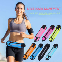 Wholesale Women Sports Waist Bag - Running Waist Bag for Men Women Sport Waist Packs Waterproof Mobile Phone Waist Bags Outdoor Bag Travel Pocket Purse for IPHONE pocket