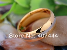 Wholesale Tungsten Bridal Ring Set - YGK JEWELRY 8MM Golden Dome Engraved line Bridal Men's Tungsten Carbide Wedding Ring q170717