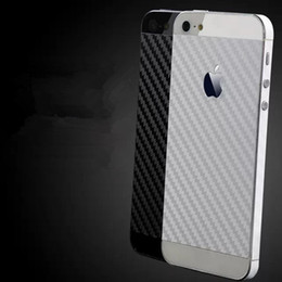 Wholesale Carbon Fiber Phone Sticker - Carbon fiber backface protective film For iPhone 5S Cover back face insulation drawbench sticker protective mobile phone