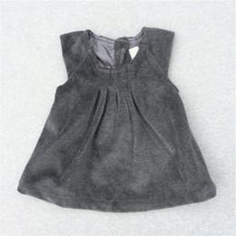 lindos vestidos de niñas pequeñas Rebajas Niñas bebés Velvet Dress 6M-24M Kids Toddler's Sleeveless Clothes Niños Princesa Vestidos Cute Small Girls Clothes 2017 nuevo invierno