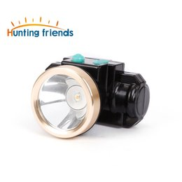 Wholesale Miner Led - 3W Mini Miners Lamp LED Headlamp Lithium Battery Cordless Miners Cap Lamp Rechargeable Headlight for Working Outdoor Activities