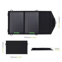 Wholesale Solar Cells 8w - 5V 8W Solar Panel Charger Foldable Solar Charger Battery Powerbank 2 Panel with Dual USB Solar Panel for Mobile Phone GPS Camera