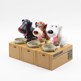 Wholesale Box Puppy - Dog saving money box,coin bank,eat money dog Eating Dog Kids Coin Bank Saving Box New Choken Puppy