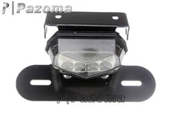 Wholesale Mx Honda - PAZOMA LED Tail Light License Plate Holder For KTM Dual Sport ATV Motorcycle MX SMOKE Tail lamp
