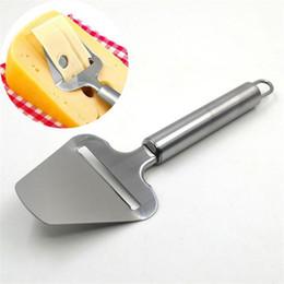 2019 нержавеющая сталь Wholesale-5pcs / lot из нержавеющей стали плоскость для сыра Slicer Масло терка с ручкой Easy Kitchen Cooking Tools дешево нержавеющая сталь