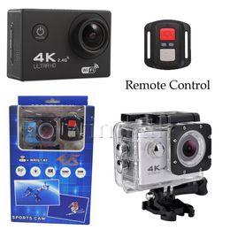 Wholesale V3 Camera - F60R 4K Action Camera 2.4G Remote Control V3 F60 2 inch LCD 30M Waterproof Diving DV Sport Cam