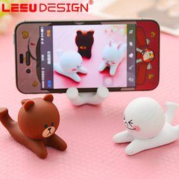 Wholesale Cute Cell Phone Stands - Universal Mini Stand cute phone charging holder mobile phone stand For Cell phones Iphone6 7 Samsung HTC