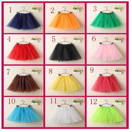 Wholesale Toddler Girls Fluffy Skirts - 2017 lace tutu skirt girls toddler princess ruffle skirts fluffy baby tutu newborn Halloween clothing