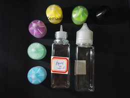 Wholesale Cheap Wholesale Prices Bottles - Cheap Price 60ml PET plastic empty clear square shape bottles long fat e liquid bottles for vape liquid with childproof and tamperproof cap