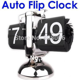 Wholesale Flip Down Desk Clock - Wholesale-Retro Flip Down Clock Modern Scale Digital Desk Table Clock-Internal Gear Operated Free shipping