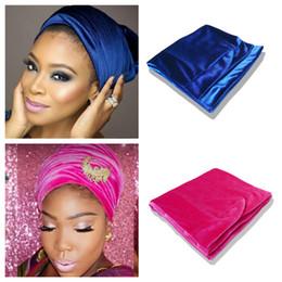 Wholesale Silver Blue Headbands - Velvet Headwrap Women Earwarmers Scrunchy Twist Hair Band Turban Bandana Bandage hijab Head Wrap Extra Long tube Scarf Tie India Arabian