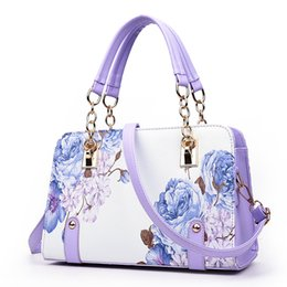 Wholesale Ladies Hand Painted - Wholesale-Pochette luxury Painting flowers Chain Women Bag famous designer purses and handbags ladies hand bags dollar price sac a main