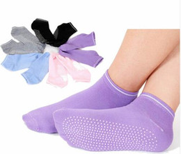 Wholesale Dance Jogging - Women Pilates Yoga Non Slip Grip Socks Cotton Dance Sport Massage Ankle Sock Gym Dance Sport Exercise Socks