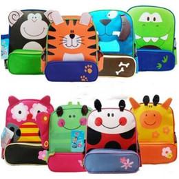 Wholesale Monkey Lovely - Kid Backpacks School Bags Unisex Owl Monkey Cartoon Animal Nylon Lovely Backpacks Girls Children School bags For Girls And Boys Best Gifts