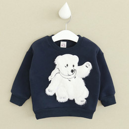 Wholesale Wholesale Factory Direct Clothing Korean - Wholesale- 2016 autumn and winter children's clothing Korean children polar bear fleece sweater factory direct free shipping
