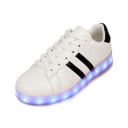 Wholesale Unisex Shoes For Adults - Unisex Led Luminous Shoes Men 2017 Casual Shoes Led Shoes For Men Fashion LED Lights Up Shoe For Adult Chaussure Lumineuse