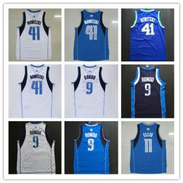 Wholesale Short Sport Men Nylon - cheap men's 2017 41# Dirk Nowitzki jersey Kids youth adlut 9# Rajon Rondo 100% stitched Throwback sports jerseys high quality fast shipping