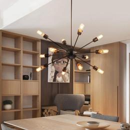 Эдисон люстры онлайн-Спутниковые люстры старинные кованые люстры потолочные подвесные светодиодные сферические паук лампы E27 Edison подвесной светильник бар
