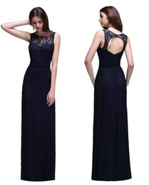Wholesale End Line - Only $49 In Stock Navy Blue High End Bridesmaid Dresses Summer Beach Maid of Honor Gowns Keyhole Back A Line Dresses CPS539