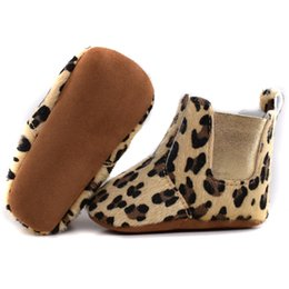 Wholesale Cute Winter Boots For Baby - Wholesale- 2016 Cute fur Winter Boots Fashion Soft Bottom Baby Moccasin leopard Baby First Walkers Warm Boots Non-slip Boots for Baby Girls