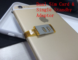 Wholesale dual sim for iphone - Dual Sim Cards Single Standby Adaptor for iPhone7 & 7 Plus with One nano sim and One normal sim