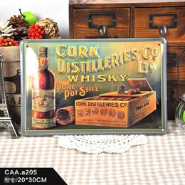 Wholesale Whisky Bar Signs - Cork Distilleries Whisky tin sign Vintage home Bar Pub Hotel Restaurant Coffee Shop home Decorative Metal Retro Metal Poster Tin Sign
