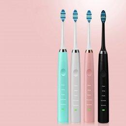 Wholesale Electric Massage Toothbrush - New Ultrasonic Electric Toothbrush Rechargeable Oral Care Massage Teeth Brush for Adult 2 Heads Teeth Brush Waterproof MOQ:30PCS