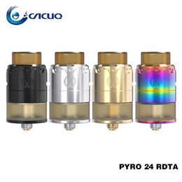 Wholesale Mix Deck - Original Vandy Vape Pyro RDTA Rebuildable Dripping Tank Atomizer 2ml 4ml Mixed Airflow Intake System Postless Build Deck Pyro 24 RDTA