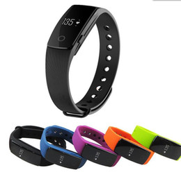 Wholesale fitness for life - Fitbit Life WaterProof Smartwatch ID107 Smart Bracelet Bluetooth 4.0 Heart Rate Monitor Fitness Tracker Sports Wrist for Android IOS 7.1