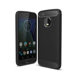 Wholesale Carbon Fibre Brush - Cover For Motorola Moto G4 G5 Plus G4 Play Case Carbon Fibre Brushed TPU Smart Phone Cases for Moto G3 E3 M Z Play Z force