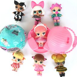 Wholesale Wholesale Newborn Bottles - L.O.L. Surprise Doll LOL Baby Dolls Sleep&Sit Full Body Lovely Realistic Baby Dolls Pink Jumpsuits Bottle Sucking Dancing Hair color change