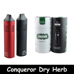 Wholesale Elite Kit - New Product Conqueror Dry Herb Vaporizer Starter Kit 2200mah Battery Capacity With OLED Screen Elite Free DHL