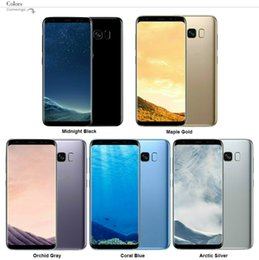 Wholesale Android Qwerty 8mp - Goophone S8 S8 Plus Phone Android MTK6735 MTK6580 Quad Core 1G Ram 16GB Rom 8MP Camera 1280*720 Show 4G ram 64G rom Smartphone
