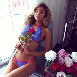Wholesale Plus Size Transparent Lingerie - New Plus Size Women Sexy Lace Transparent Bra Set Brand VS Ultra Slim Underwear Set Bra Panty Brief Sets Lingerie Set