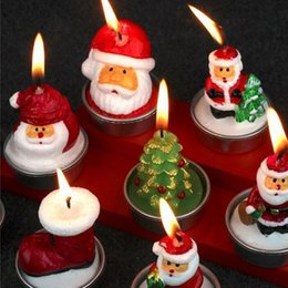 Wholesale Santa Claus Candles - Santa Claus Snowman Christmas Candle For Home Decoration Party Decor Special Gift For Friends Free Shipping ZA4298