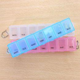Wholesale Mini Seven - Seven Days A Week Plastic Medicine Organizers Box Mini Seal Small Multi-Function Case Creative Style Portable Design Boxes