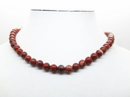 Wholesale Tiger Necklaces For Men - Red Jasper Hot 45cm Natural Stone Lava Tiger Eye Beaded Choker Necklace For Women Men Jewelry