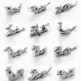 Wholesale Wholesale Knife Rest - 12 Pcs Twelve Chinese Zodiac Signs Stainless Steel Chopsticks Rest Spoon Stand Fork and Knife Holder