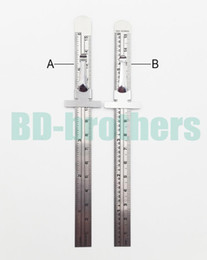 Wholesale rulers 15cm - 15cm Stainless Steel Straight Ruler Metal Graduated Scale Depth Gauges CM Inch Double Sided Repair Rule Measuring Tool 500pcs lot