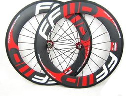 Wholesale Painting Roads - Free shipping carbon 38 50 60 88mm Clincher wheels with FFWD F4R F5R F6R F9R paint 700C full carbon road bike wheelset with decal