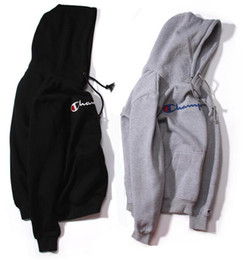 Wholesale Men S Leisure Outfits - Qiu dong season popular logo hoodie, leisure logo embroidery sweethearts outfit Japanese cotton fleece, add hair thickening hooded fleece