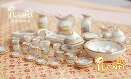 Wholesale Ceramic Toy Set - 1:12 Doll House Mini Tea Tableware Furniture Ceramics Parts Pocket Size 40pcs High End Gorgeous Have Everything 59 9qy G1