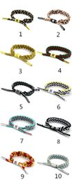 Wholesale Couple Wristband Bracelets - Fashion Couple Splashed Ink Little Lion Rastaclat Shoelaces Casual Woven Bracelet Wristband Temperament Bracelet(40 colors)