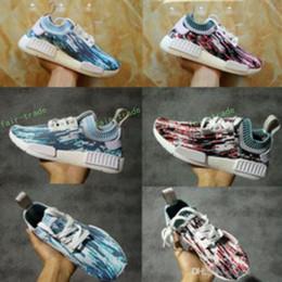 Wholesale Aqua Flats - Originals 2017 NMD R1 Sneakersnstuff X Primeknit Tri Ccolor Jogging Women Men Running Shoes Nmds Real Boost Aqua Lab Green BB6365 BB6364
