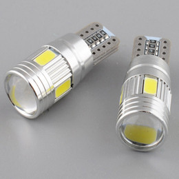 Wholesale Wedge Base - Car Led Light T10 W5W Canbus Bulb 5630 6SMD Decode ,Lens LED Width Lamp Wedge Base Clearance Lights