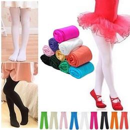Wholesale Dance Leggings Kids - Winter Fashion Toddler Girls Kids Leggings Footed Tights Stockings Opaque Pantyhose Ballet dance pants stretchy