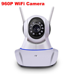 Wholesale Camera Wifi Wireless 1pcs - 2017 New Double antenna Camera wireless IP camera WIFI Megapixel 960p HD indoor Wireless Digital Security CCTV IP Cam IR 1PCS