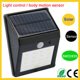 Wholesale Cheap Solar Lights Wholesale - Shenzhen cheap price Motion Sensor wireless outdoor wall lamps solar patio lights 8leds 12leds 16leds 20leds