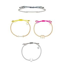 Wholesale Horseshoe Sets - Elephant Horseshoe Arrows Dot Pave Wishing Good Luck Rhinestone Bracelet