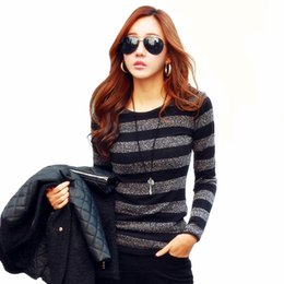 Wholesale Korean Women S Knitted Sweater - Wholesale-2016 New Fashion Autumn Sweater Korean Fall Women Sweaters and Pullovers Cashmere Thin Wool Pullover Knitted Long Sleeve